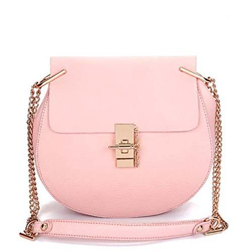 Color Casual Pequeña Pink Puro Bolsas Crossbody Pu Keral Elegante Cuero Mujer FYwqx5vZ