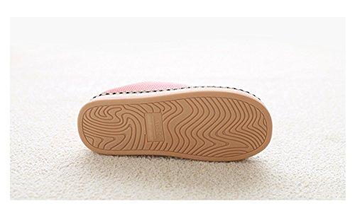 intérieur Peluche Maison Feutre Lapin Slipper Fausse Rojeam Coton Womens Pantoufles Pourpre avec Confortable Chaussures en Mens Pantoufles Semelle Chaud Slipper en antidérapant Fourrure Hiver en vHUwqf