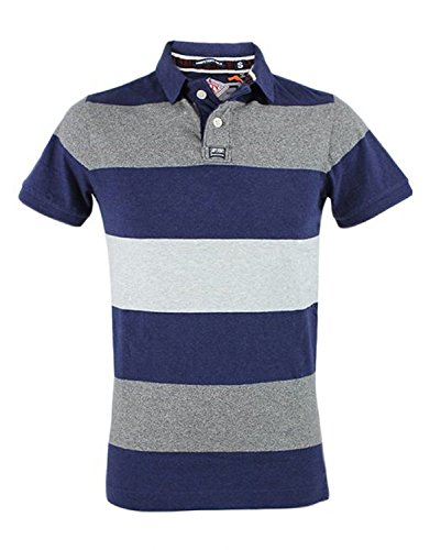 POLO SUPERDRY M11026ONF3 XDS MARINBLAU size S