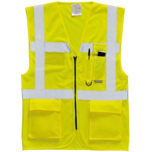 Portwest Herren Hi Vis Weste / Sicherheitsweste (XL) (Gelb)