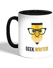 كوب سيراميك للقهوة، اسود،  بتصميم المهوس