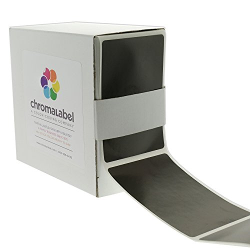 ChromaLabel 2 x 3 inch Color-Code Labels | 250/Dispenser Box - Chalkboard Stickers Black