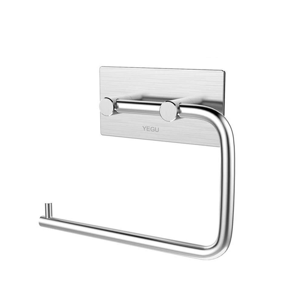 PUMPKIN CARRIAGE 1PCS Self Adhesive Stainless Steel Kitchen Tissue Hanging Holder Towel Rack Cabinet Door Hook for Bathroom Kitchen Accessories