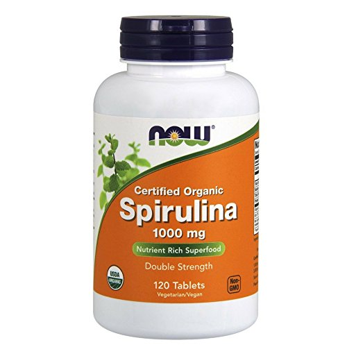 NOW Spirulina 1000 mg,120 - Elements 120 Trace Tabs
