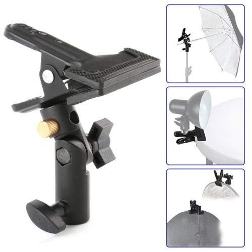FidgetFidget Light Stand & Reflector Swivel Tripod/Background Heavy Duty Holder Clip Clamp