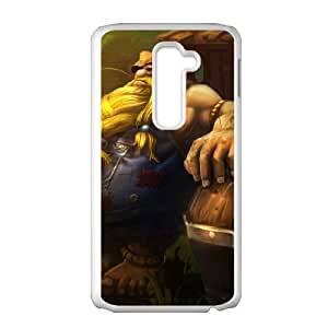 LG G2 Cell Phone Case White League of Legends Hillbilly Gragas OIW0385244