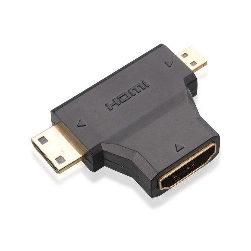 Gold-Plated Mini-HDMI + Micro-HDMI to HDMI Adapter