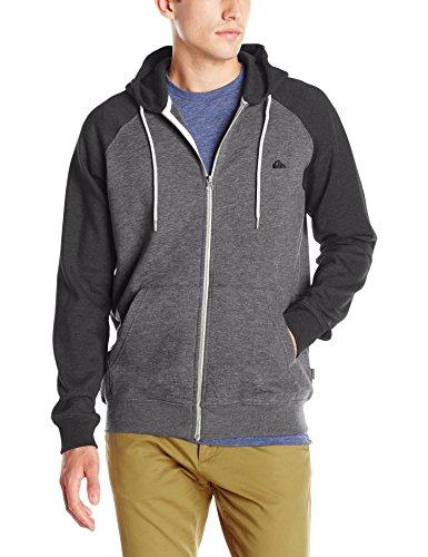 Quiksilver Men's Everyday Zip Hoodie Sweatshirt, Dark Grey Heather, Small Zip Hoodie Jumper