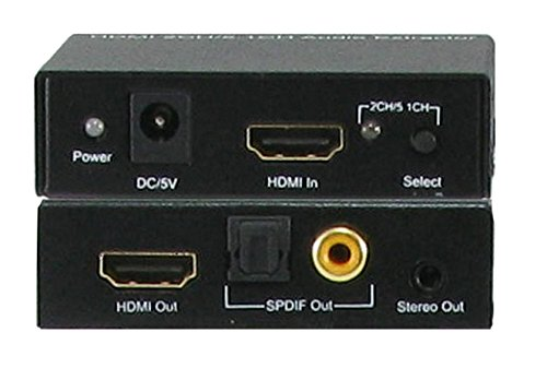 A-NeuVideo ANI-5.1CH HDMI to SPDIF 2CH/5.1CH Audio Extractor with HDMI Pass Thru