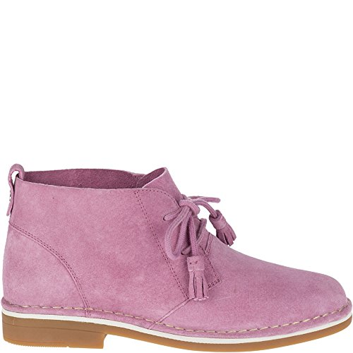 Hush Puppies Women's Cyra Catelyn Ankle Boot, Dusty Orchid Suede, 9.5 W (Hush Puppies Casual Boot)
