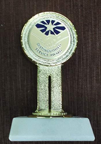 Distinguished Service Award Trophy Award cast Metal Marble Base - Award Distinguished Service