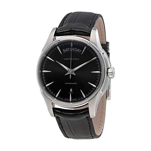 Hamilton Watch Automatic (Hamilton Men's HML-H32505731 Jazzmaster Analog Display Swiss Automatic Black Watch)