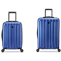 2-Piece DELSEY Paris Titanium DLX Hardside Luggage with Spinner Wheels (21