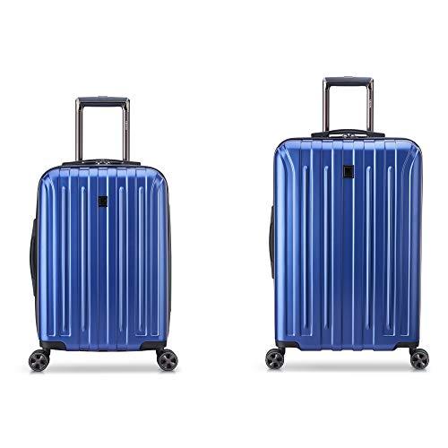 DELSEY Paris Titanium DLX 2-Piece Spinner Luggage Set (Carry-on & 25'), Blue