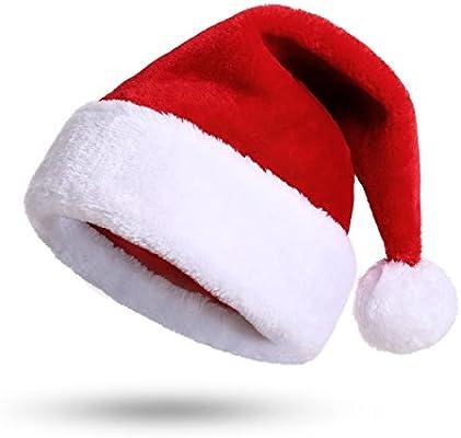 vendita professionale più recente codice coupon Cappello Babbo Natale Peluche per Adulti, Cappellini Natale, Cappellino  Babbo Natale Onesize