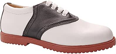 Willits Women's Honor Roll II Saddle Shoes,White/Black w/Red Sole,5 M
