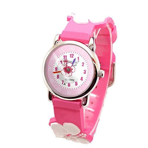 Kids Watch my first Easy Reader Wrist Watches Boys Girls Toddler Waterproof Children Time Teacher 3D Cute Cartoon Silicone Quartz Learning Gift for Little Child by Meetyoo (Image #7)