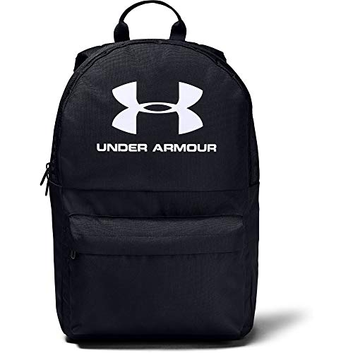 Under Armour Loudon Backpack, Black (002)/ White, One Size Fits all