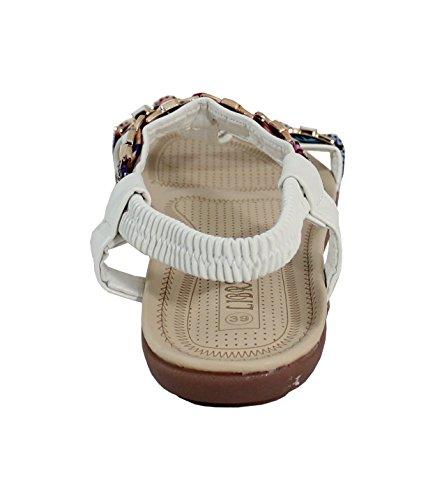 By Shoes - Sandalias para Mujer Blanc