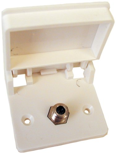 Prime Products 08-6201 White Exterior TV Receptacle ()
