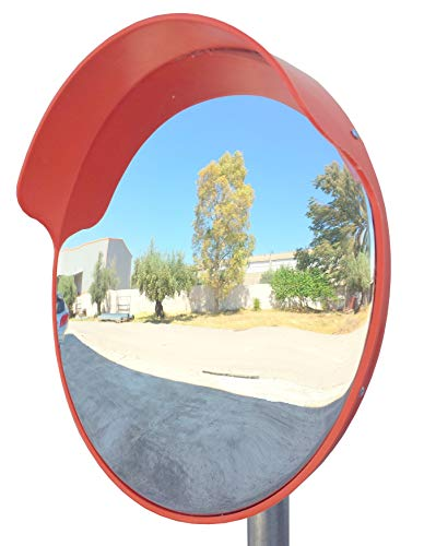 SNS SAFETY LTD Espejo de seguridad, convexo y flexible, de 45 cm de diametro, para garantizar la seguridad en calles y en tiendas, con soporte de fijacion ajustable para poste de 48 mm