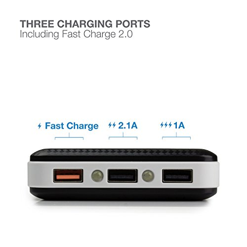 ExpertPower quickly payment 20 electrica Bank 30000mAh transportable Charger External Battery Pack together with 3 Port 4A for iPhone Samsung Galaxy Note more phones and Tablets transportable electrica Banks