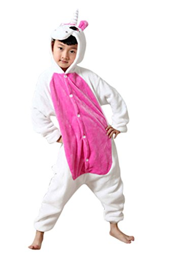 [Zerlar Children's Pajamas Animal Costume Onesie Kids Sleeping Wear Cosplay] (Girl Anime Costumes)