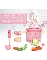 1Set educatief speelgoed voor kinderen, baby hot pot groente houten voedsel set speelhuis voor kinderen peuters