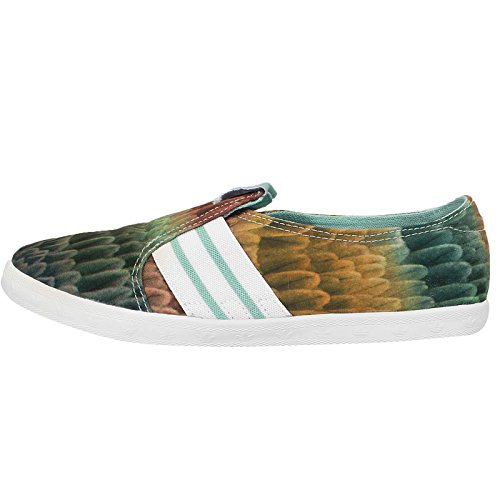 Adidas Women's Adria PS Slip-On W, The Farm Company-GREEN/WHITE, 7 - Shoe Adria