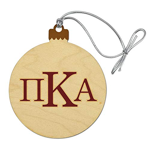 GRAPHICS & MORE Pi Kappa Alpha Greek Letterform Heritage Fraternity Wood Christmas Tree Holiday Ornament