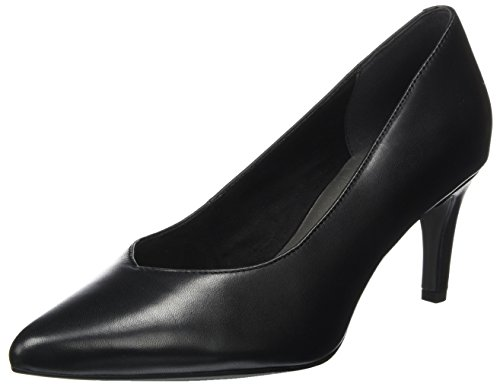 Noir Leather Escarpins 22430 Tamaris Femme Black wRPPqt