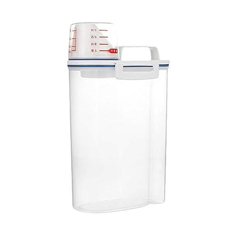 Geshiglobal - Recipiente de plástico Transparente para dispensador de Cereales, Caja de Almacenamiento para Cocina