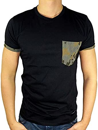 Camiseta negra de bolsillo del ejército de daño criminal ...