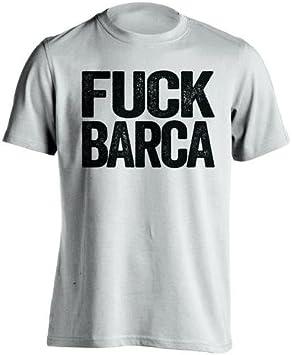Beef Shirts Fuck Barca – Real Madrid CF Ventilador Camiseta – diseño de Texto – Carne de Vacuno Camisas: Amazon.es: Deportes y aire libre