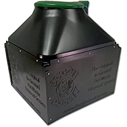 """Doggie Dooley """"The Original in-Ground Dog Waste Disposal System, Black with Green Lid"""