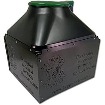 "Doggie Dooley ""The Original In-Ground Dog"" Waste Disposal System, Black with Green Lid"