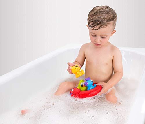 """Playgro Giochi per bagnetto """"Amici del nuoto"""", Senza aperture, Impermeabile e anti-sporco, 4 pezzi, Per il bagnetto, A partire da 6 mesi, Senza Bisfenolo A, Multicolore, 40213 3"""