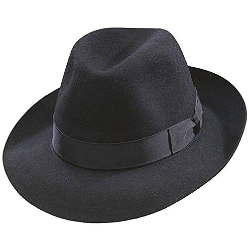 Jual Borsalino Classic Fedora Hat-Black - Fedoras  15e924abf805