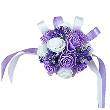 Amazon.com: Pulsera de flores de muñeca para mujer, diseño ...