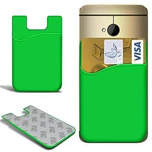 N4U Online - BlackBerry Z3 palillo de silicona delgada en tarjeta de crédito / débito caso de la cubierta de la ranura - Verde