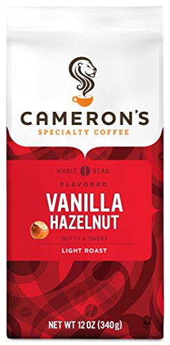 (Cameron's Coffee Roasted Whole Bean Coffee, Flavored, Vanilla Hazelnut, 12)