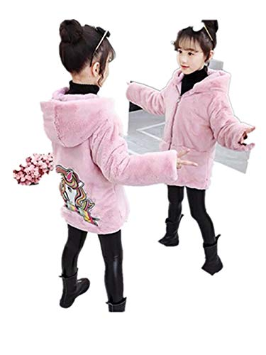 Miss Bei Baby Girls Hooded Jacket Outerwear Coats Snowsuit Jackets Fall Winter Warm Coat Clothes for 1-8Years unicornpink130