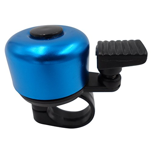 ATCG Cute Alloy Mini Bicycle Bell for Kids Boys Girls (Blue)