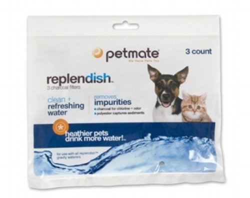 Petmate Replendish Charcoal Replacement Filters, 3-Pack, My Pet Supplies