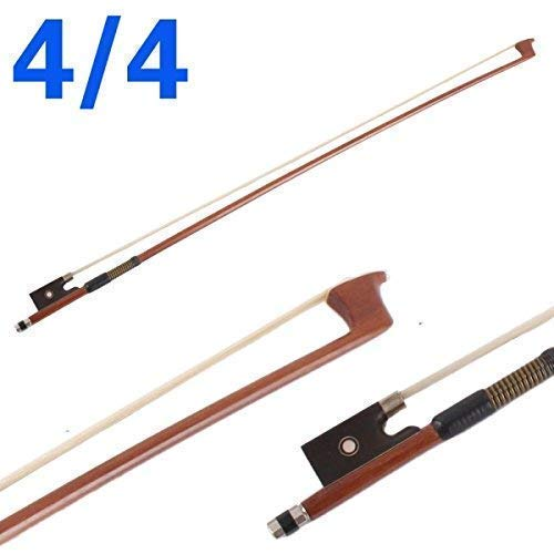 Violin Bow 4/4 Brazilwood Bow for Violin Octagonal Stick Ebony Frog with Mongolian Horse Hair