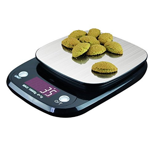 LLVV Stainless Steel Digital Kitchen Weighing Scales-Electronic Cooking Food Scale With LCD Display Accurate Precision Up To ()