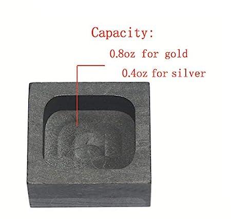 Graphite Ingot Mold Melting Casting Mould for Gold Silver Nonferrous Metal 250g