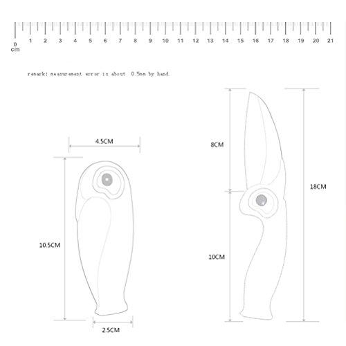 Mini Ceramic Folding Knife,3.1-Inch White Blade,Unique Penguin Handle,Gift Box (Black) by bloomoon (Image #1)