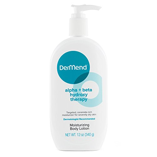 DerMend Alpha + Beta Hydroxy Moisturizer Glycolic Acid Skin Lotion - 12 Ounces