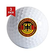 CafePress - German Emblem Golf Ball - Golf Balls (3-Pack), Unique Printed Golf Balls
